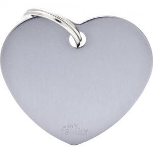 basic, hjärta stor, grå