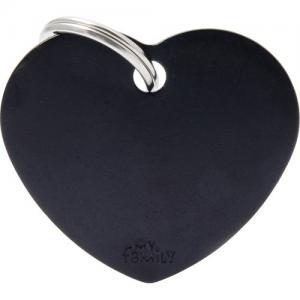basic, hjärta stor, svart