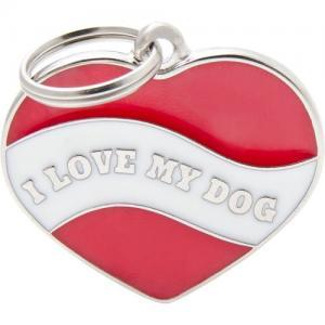 charms, heart I love my dog