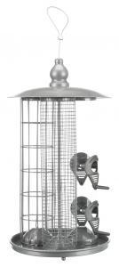 Vildfågelmatare 3-i-1, ø 20 × 36.5 cm, silver