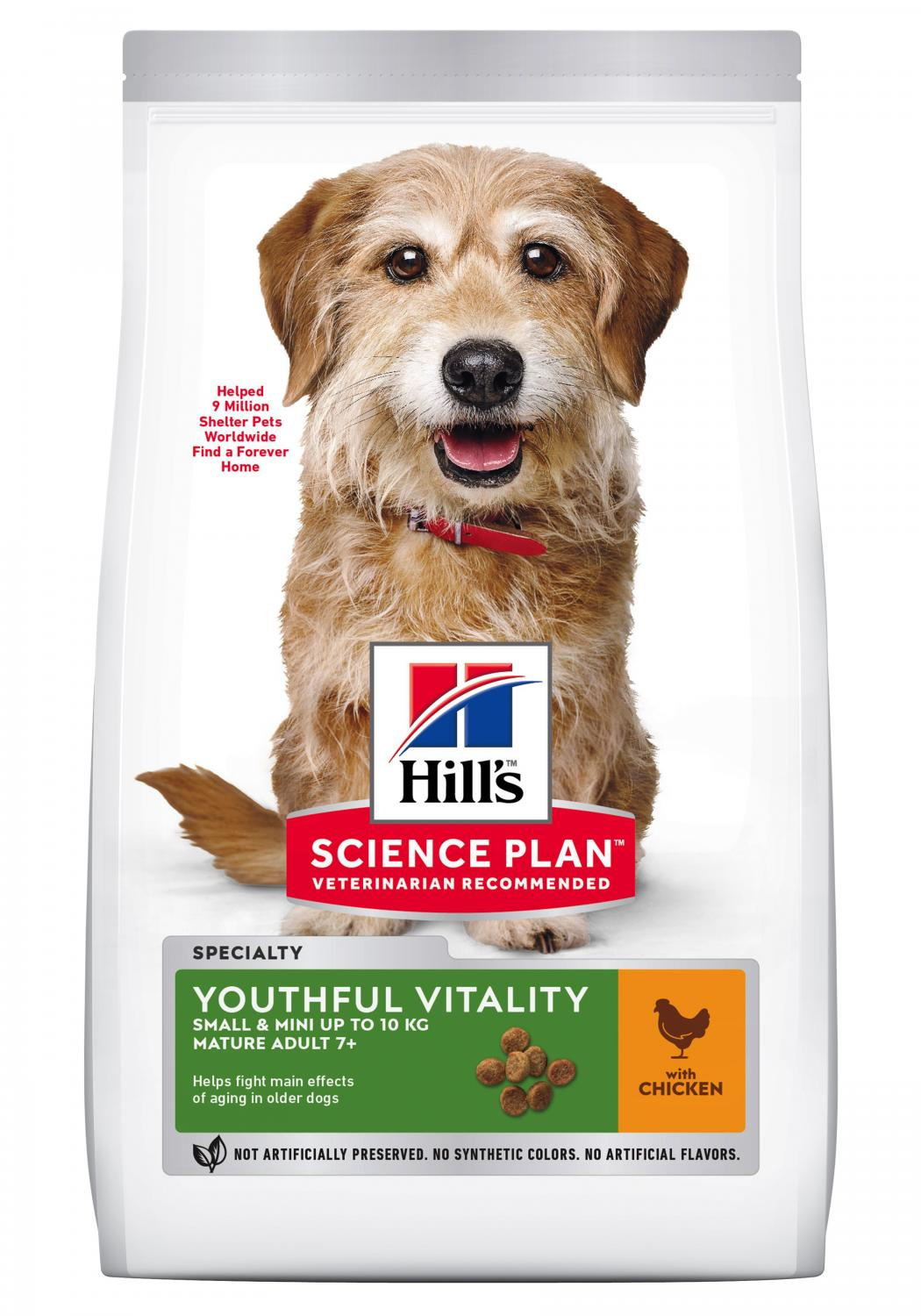 SP Canine Adult7+ Youthful Vitality Small&Mini Chicken 6kg