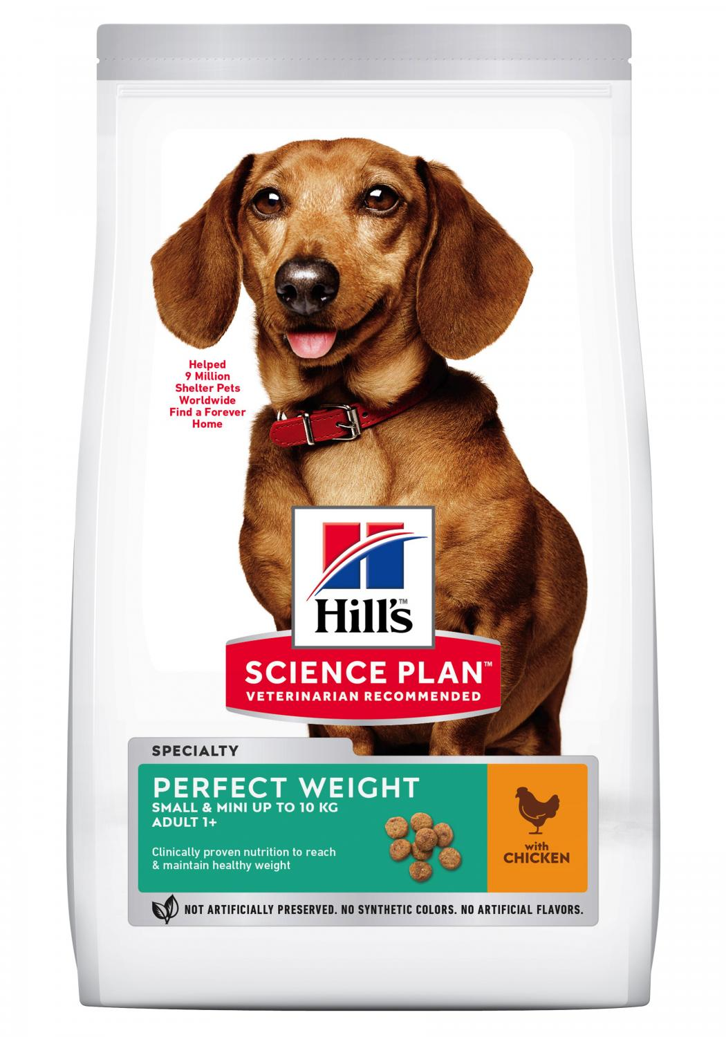 SP Canine Adult Perfect Weight Small&Mini Chicken 1.5kg