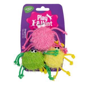 Färgglada spindlar 3-pack 5cm