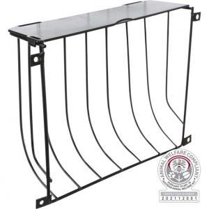 Höhäck skruvfixerad, med lock, metall, 22 × 16 × 6 cm, svart