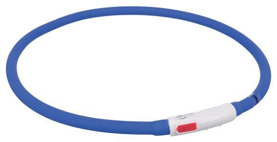 Flash light ring USB, silikon, XS-XL: 70 cm/ø 10 mm, blå
