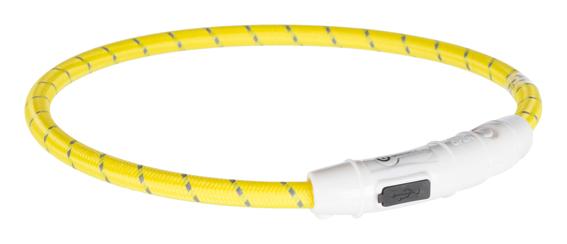 Flash light ring USB, M-L: 45 cm/ø 7 mm, gul