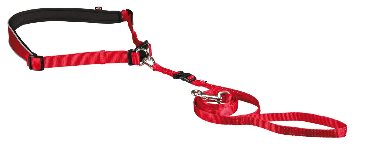 HandsFreebälte m koppel 60-130/2,5 cm Röd