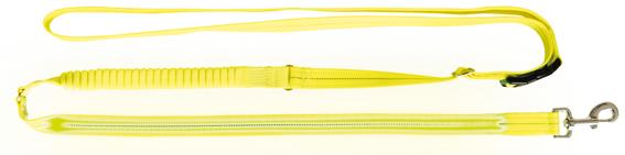 Flash joggingkoppel USB, S-XL: 1.85-2.55 m/25 mm, neon