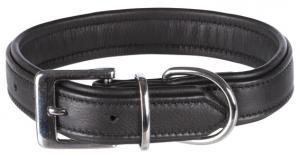 Active Comfort halsband, läder, S: 31-37 cm/25 mm, svart