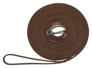 Rustic råläder, spårlina,10 m/8 mm, mörkbrun