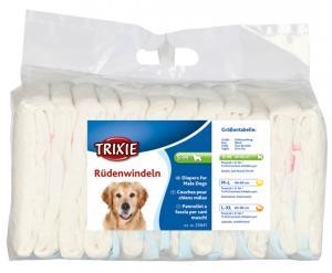 Blöjor för hanhund, S-M: 30-46 cm, 12-pack