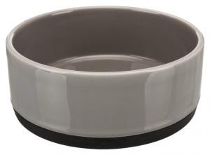 Keramikskål med gummibotten, 0.4 l/ø 12 cm, grå