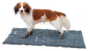 Smutsabsorberande matta, vattentät nonslipbotten, 80 × 55 cm, grå