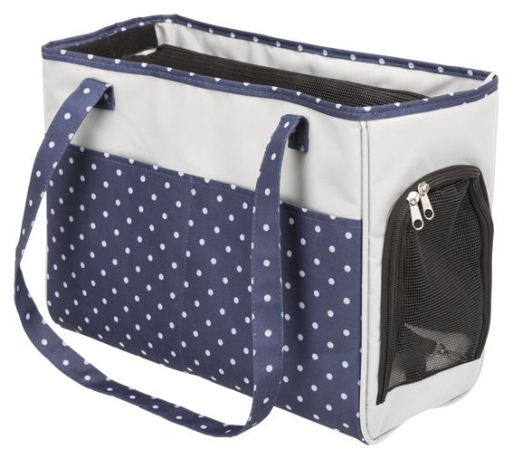 Bonny transportväska,20 × 29 × 40 cm, blå/grå