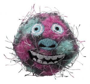 2-pack Monsterbollar, polyester/plast,ø 5 cm