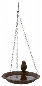 Fågelbad hängande, gjutjärn, 250 ml/ø 16 cm, brun