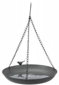 Vattenskål fågel hängande, metall, 2,200 ml/ø 30 cm