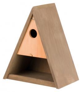 Fågelholk triangelform m. foderbord, 25×30×17 cm/ø 3,5 cm