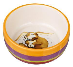 Keramikskål marsvin, 250 ml/ø 11 cm, multifrg/cream