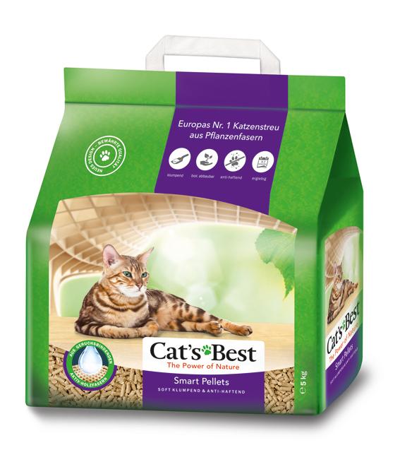 Cat's Best Smart/Gold 10 L för långhårskatter