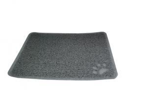 Kattlådematta WipeOff, Easy Care, PVC, grå 45x34cm