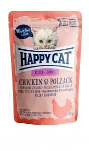 HappyCat våt, Junior, kyckling & pollack 85g