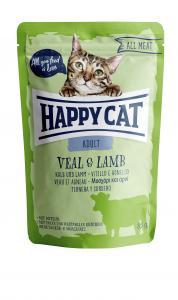 HappyCat våt, Adult, kalv & lamm 85g