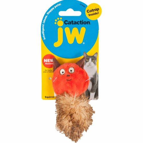 JW Cataction Catnip ekorre röd/brun