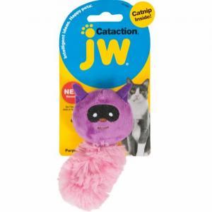 JW Cataction Catnip tvättbjörn, lilla/pink