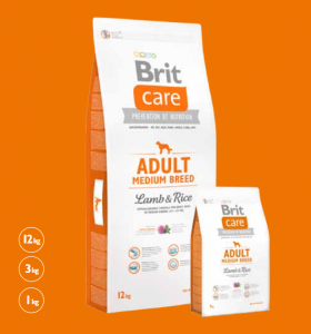 Brit Care Adult Medium Lamb & Rice 1 kg