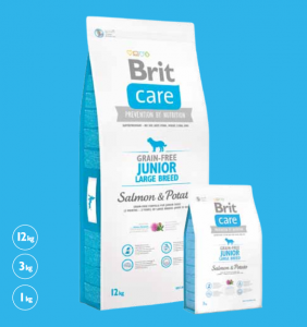 Brit Care Grain-free Junior Large Salmon & Potato 1 kg