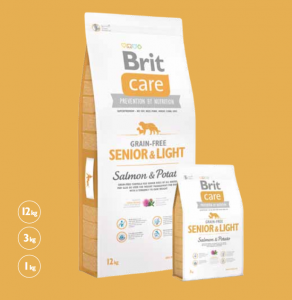 Brit Care Grain-free Senior & Light Salmon & Potato 1 kg
