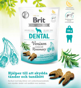 Brit Functional Snack Dental Venison 150 g