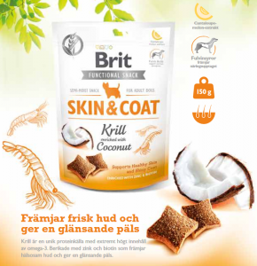 Brit Functional Snack Skin & Coat Krill 150 g