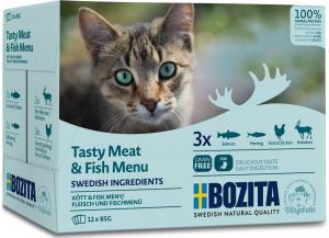 Bozita Pouch Multibox kött&Fisk i sås 12*85g