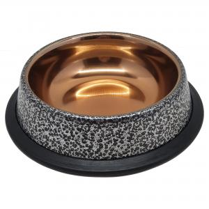 Rostfri skål Silver/Guld NonSlip Gibbon Rostfri 0,25 l