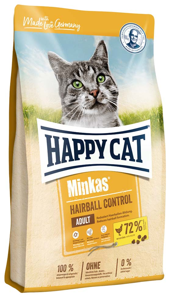 HappyCat Minkas, Hairball. Fågel 10kg