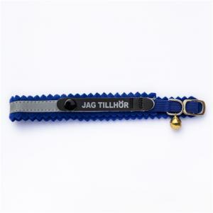 Katthalsband -jag tillhör- blå