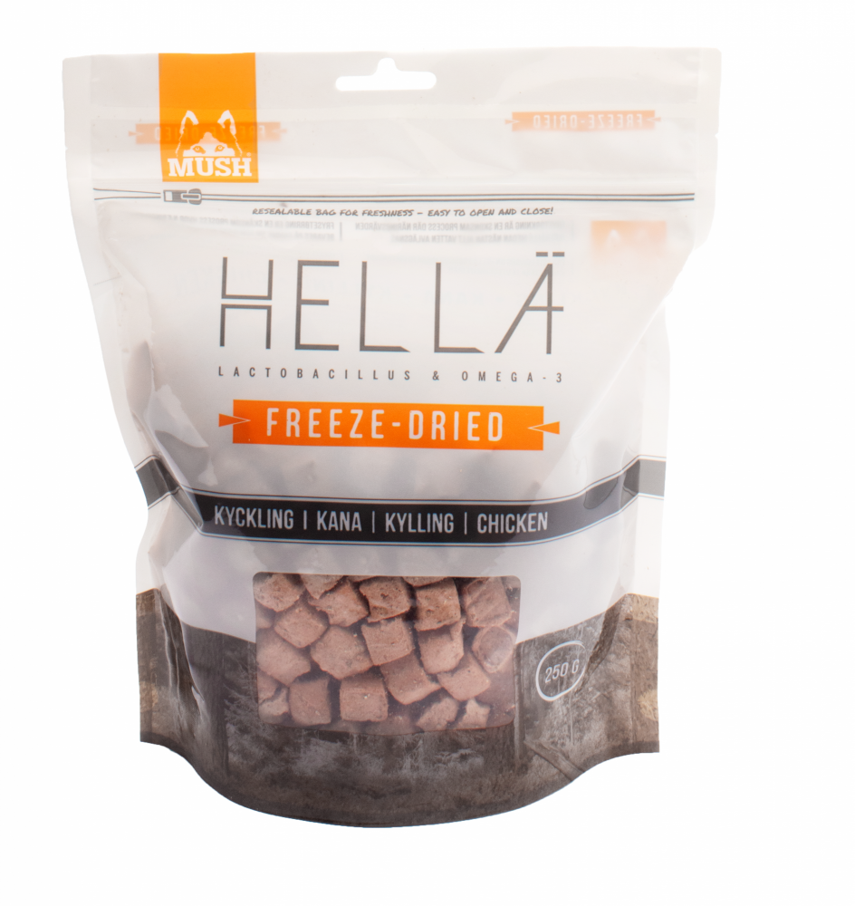 MUSH Hellä Freeze-Dried Kyckling 250 gram