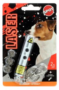Laserpenna 2 i 1 för hund -Spot