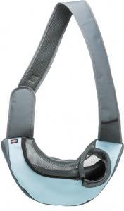 Axelväska, 50 × 25 × 18 cm, ljusgrå/ljusblå