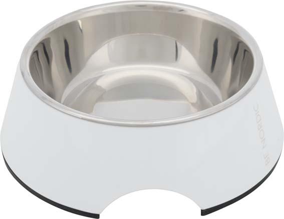 BE NORDIC Matskål, melamin, 0.4 l/ø 17 cm, vit