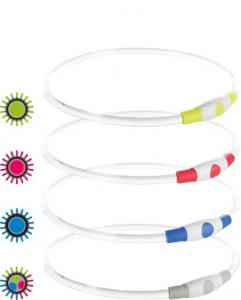 Flash light ring USB, L-XL: 65 cm/ø 8 mm, multi-färg