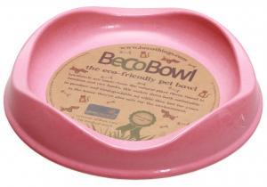 Beco matskål Rosa från växtfibrer 13,6x3cm