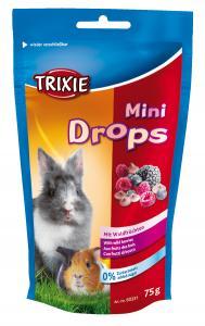 Mini Drops gnagare skogsbär 75 g