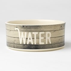 "Farm Dog WATER Bowl 6"" Gray"