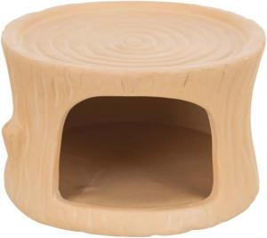 Keramikhus, stubbe, hamsters/möss, 11 × 6 × 10 cm, terrakotta