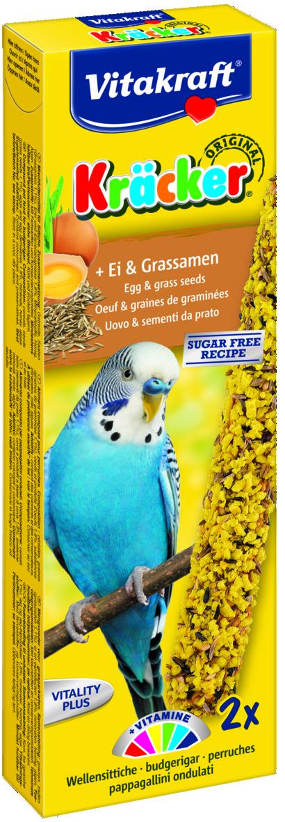Kräcker Ägg & Grösfrö 2-pack, Undulat