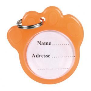 I.D. Bricka Tassformad, ø 3,5 cm, orange