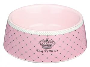 Princess Dog Keramikskål 0,18L 12cm Rosa